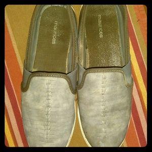 Maurices light gray flats